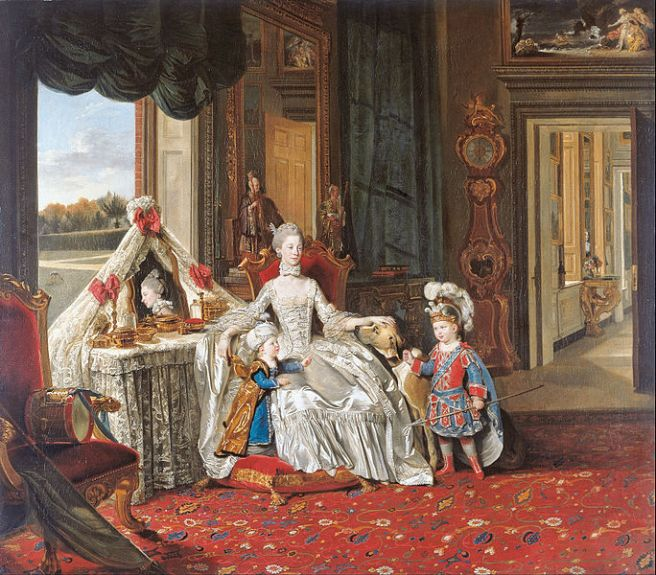 684px-Johan_Zoffany_-_Queen_Charlotte_(1744-1818)_with_her_Two_Eldest_Sons_-_Google_Art_Project